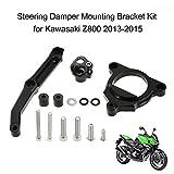 KKmoon Moto Amortisseur de Direction Stabilisateur Kit de Support de Montage pour Kawasaki Z800 2.013 à 2.015 Noir