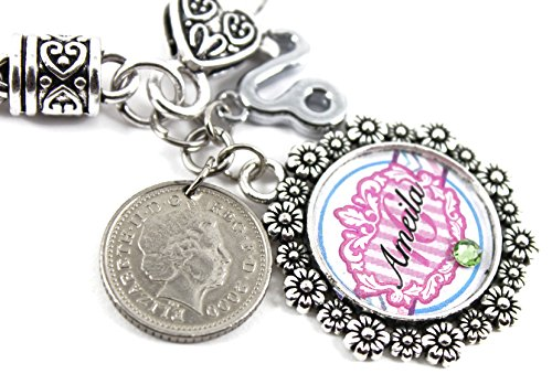 Price comparison product image Personalised 16th Birthday Keepsake Bracelet Gift - 2001 UK Five Pence Coin Bracelet - Sweet 16th
