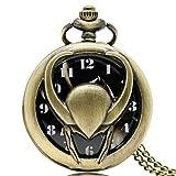 The Avengers Loki Reloj de Bolsillo Vintage, Colgante de Bolsillo para Hombres, Reloj de Bolsillo de Cuarzo
