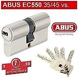 ABUS EC550 Cylindre de serrure (a/b) 35/45mm (c=75mm) avec 5 clés - SKG ** certifié