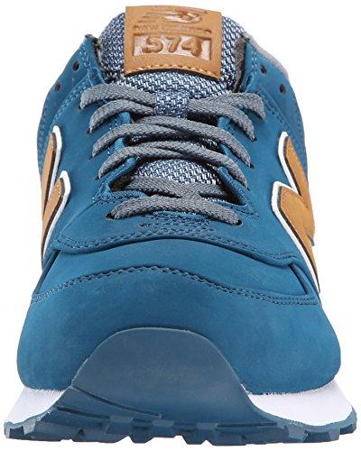 New Balance Herren Nbnb574bab Low-Top Blau/Hellbraun