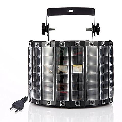Gledto 30W Lampe de Scène RGB Papillon Rotative Projecteur Effet Éclairage Scénique LED avec Télécommande pour Disco DJ Fête Soirée Couleur Noir