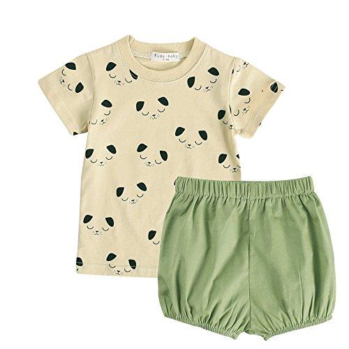 Sanlutoz Neugeborenes Baby Mädchen Baumwolle Kleidungs Sets Gitter Punkte Blumen Gedruckt Baby Klamotten (2-3 years, BCS7051)