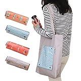 Queta - Bolsa de viaje plegable impermeable de gran capacidad, bolsa de reciclaje de alimentos, bolsa de la compra, bolsa de playa, bolso de mano, respetuoso con el medio ambiente, nailon Oxford color al azar