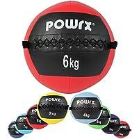 POWRX Medizinball Wall-Ball Gewichtsball Gymnastikball Deluxe 2-10 kg   Versch. Farben