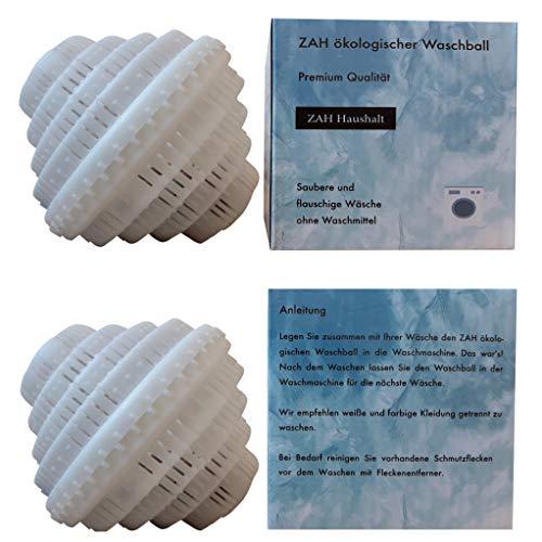 ZAH ökologischer Waschball, saubere und Flauschige Wäsche ohne Waschmittel, biologischer Waschball, Waschkugel, Bio-Waschball (Weiß)