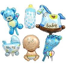 6 globos lámina de aluminio, para decoración de fiesta de cumpleaños para niños, baby