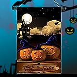 [Livraison Gratuite 7-12 jours] 30x45cm Halloween citrouilles de polyester nuit drapeau décoration de jardin de vacances BML®