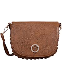 [Sponsored]Desence Girls And Women Sling Bag Casual And Stylish Cross Body Cum Shoulder Bag (Brown)