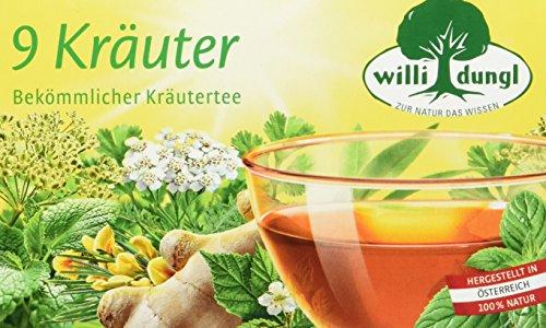 Willi Dungl 9 Kräuter Kräutertee 20 Beutel, 5er Pack (5 x 40 g)