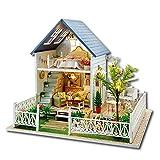 Per DIY Casa Miniature de Villa de Estilo de Nórdico Regalo para Niños Decoración para Casa