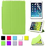 Besdata® For Apple iPad mini Magnetic Smart Cover Stand + Hard Back Case Free Stylus - Supreme Quality - Protects the Device - UK Stock - Green - PT2506