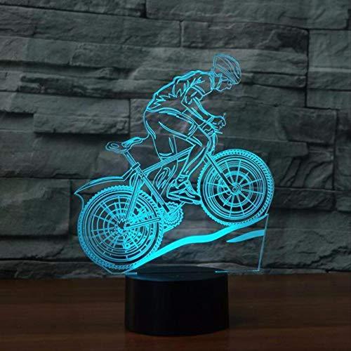 Baby Beleuchtung Lampe, 3d Night Ligh, Mountain Bike Leuchten Licht Halloween Mädchen Jungen 7 Farben ändern Usb Geburtstag Schlafzimmer Dekor besten Geschenke LED