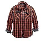 HARLEY-DAVIDSON Men's Oak Leaf Plaid Slim Fit Shirt (S)