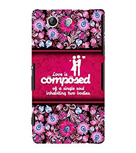 Love Quote 3D Hard Polycarbonate Designer Back Case Cover for Sony Xperia Z4 Mini :: Sony Xperia Z4 Compact