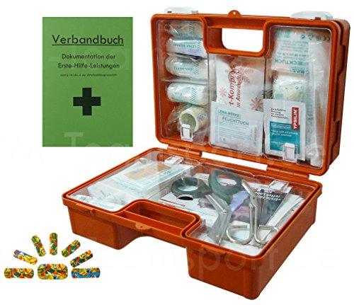 Erste-Hilfe-Koffer KITA incl.Hygiene-Ausstattung nach DIN 13157 für Betriebe + DIN/EN 13164 für KFZ - mit Verbandbuch & Wundreinigung (Haushalt Hilfe)