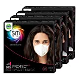 #6: Dettol SiTi Shield N95 Anti Pollution Smart Mask, Unisex, (2M,2S) (Pack of 4)