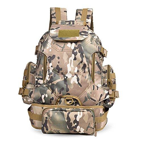 Dlflyb Outdoor Rucksack - Für Männer Und Frauen Sport Taschen - Große Kapazität Freizeit Computer Packs CP camouflage