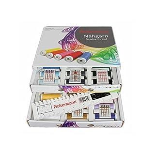 36 Farben x 200m ACKERMANN UNIVERSAL 120 NÄHGARN (Allesnäher) in handlicher Box. ACKERMANN UNIVERSAL 120 Nähgarn-Box. Nähgarnsortiment, Nähgarn-Set, Nähgarne, Nähgarn-Sortiment-Set, Nähmaschinengarn, Syngarn (Weiß mit 5 Päckchen Organ Nadeln)