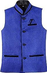 River Hill Mens Blue Nehru Jacket/Waistcoat