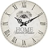 Premier Housewares 2200542 Horloge Murale Home Sweet Home en MDF