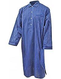 Chemise de nuit 100% coton à rayures - bleu - homme