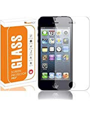 OpenTech® Tempered Glass Screen Protector for Apple iPhone 5 / 5s / 5c with Installation kit (Full Transparent)