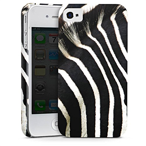 Apple iPhone 6s Tasche Hülle Flip Case Zebra dschungel Animal Print Premium Case glänzend