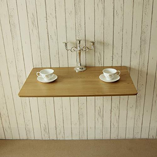 DZYZZ Gaming Desk für Heim und Büro, Wandmontierter Klapp-Esstisch aus massivem Holz Einfacher Computer-Schreibtisch-Beistelltisch-Studiertisch, Schreibtisch, Home Office,50 * 40 cm - Klapp-esstisch