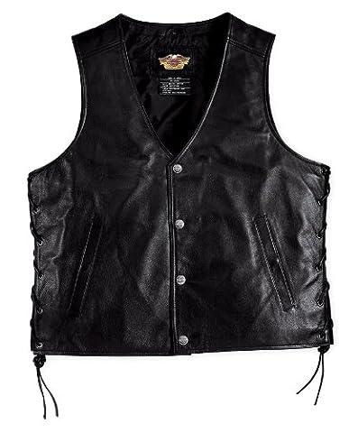 Harley-Davidson Pathway Leather Vest 98103-02VM Herren Outerwear, Schwarz, M (Harley Davidson Chaps)