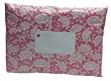 """50 x Pink Floral Printed Mailing Bags - 162mm x 230mm 6"""" x 9"""" - Post Plastic Polybag Poly Strong Self Seal"""