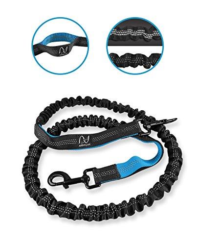 Joggingleine für Hunde mit extra hoher Spannkraft für Belastungen bis 100kg und dehnbar von 120 bis 220cm | stoßdämpfend und reflektierend | von Happilax - 3