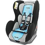 Asiento Auto de 0a 18kg con protecciones laterales–Creación 100% francesa–3estrellas Test TCS–4colores–Cale cabeza y asiento acolchados)