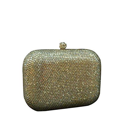 Frauen-Clutch Abendtasche Diamant Mini-Handtasche OneColor