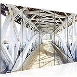 Quadro Ponte di legno 200 x 80 cm - XXL Immagini Murale Stampa su Tela Decorazione da Parete Pronte per l'applicazione - 611855a