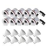 PACK 10X SUPPORT DE SPOT LED ORIENTABLE BBC RT2012 + AMPOULE LED GU10 6W 4000°K