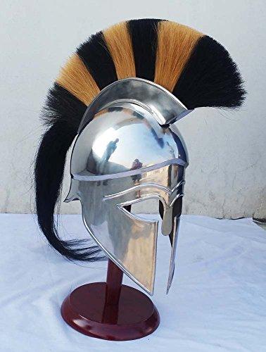 Shiv (TM Shakti Unternehmen Griechisch Corinthian Helm Armor mit Plume Armour Ritter Mittelalter Spartan (Griechischen Kostüme Helm)