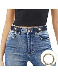 JasGood Schnallenfreier Damen Stretch Elastischer Gürtel für Damen Herren, Plus Size Keine Schnalle Unsichtbarer Gürtel für Jeans Hosen