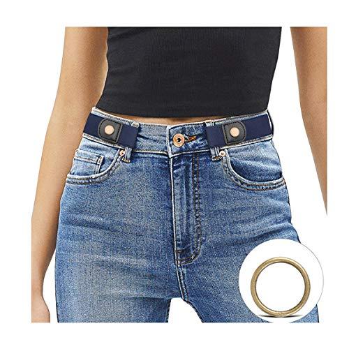 JasGood Schnallenfreier Damen Stretch Elastischer Gürtel für Damen/Herren, Plus Size Keine Schnalle Unsichtbarer Gürtel für Jeans Hosen (Damen-gürtel Für Jeans)