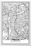 Panorama® Poster Karte von Prag 50 x 70 cm | Gedruckt auf