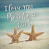 Love You a playa y parte trasera impreso 5,5x 5,5sólido madera Plank de pared con texto en inglés