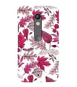 PrintVisa Leafs Designer Design 3D Hard Polycarbonate Designer Back Case Cover for Motorola Moto X Play