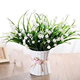 LIXIAOXIN Falsche Blume Simulation Set Wohnzimmer Möblierung Dekoration Schmuck Kunststoff Topfpflanzen Weiß Jasmin