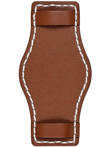 Astroavia weiche Unterlage für einen Armband braun mit weißer Naht 22mm U7