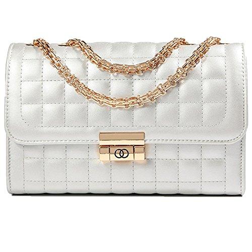 Gestickte Messenger Tasche (Frau Umhängetasche Design Mode Lingge Kette Tasche Messenger kleine Tasche Straße Damen Handtasche)