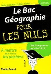 Le Bac Géographie pour les Nuls