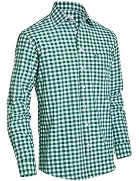 Almsach Herren Regular Fit Trachten Hemd in LF106 tannengrün