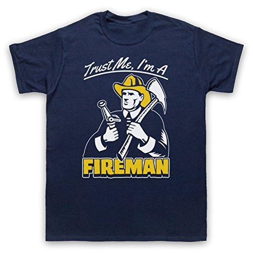 Trust Me I'm A Fireman Funny Work Slogan Herren T-Shirt Ultramarinblau