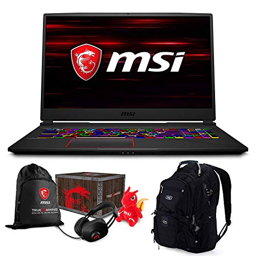 "MSI GE75 Raider 048 1920x1080 ME2 - MSI GE75 Raider-048 17.3"" Gaming and Business Laptop (Intel i7-8750H, 16GB RAM, 2TB HDD + 1TB PCIe SSD, 17.3"" FHD 1920x1080, GeForce RTX 2080,Win 10Pro) VR Ready with MSI Loot Box and ME2 Backpack"