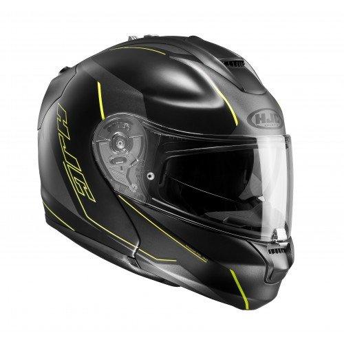 Preisvergleich Produktbild HJC RPHA MAX EVO DORGON MC4HSF Klapphelm matt schwarz / gelb S
